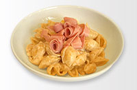 pasta and ham kids meal