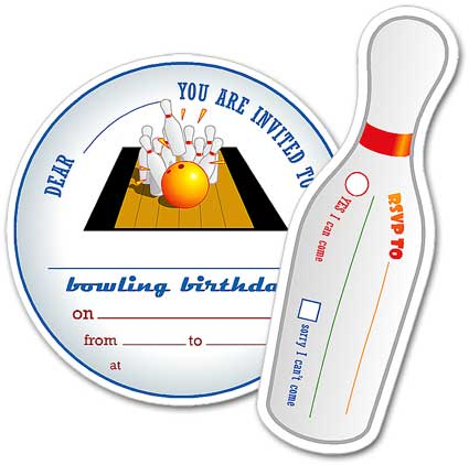 40th Birthday Ideas Ten Pin Bowling Birthday Invitation Templates – Printable Bowling Party Invitations