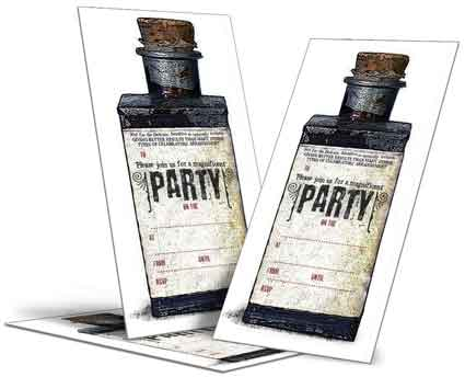 dadcando wizard potions Party invitations