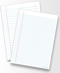 Fantastic feint ruled paper