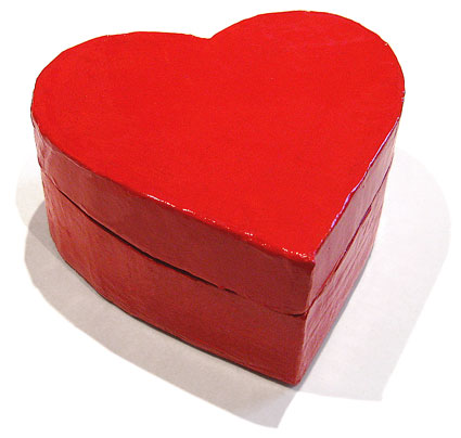 Make your own beautiful Heart Shaped Box