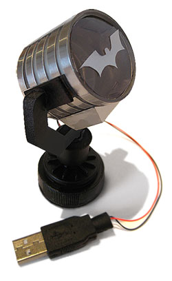 batman Spotlight, make your own model from Junk project
