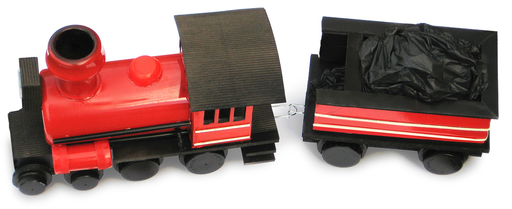 Steam Train And Tender Made From Junk