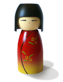 homemade kokeshi dolls
