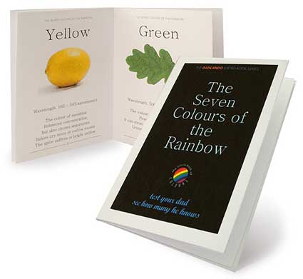 make your own micro book colours of the rainbow