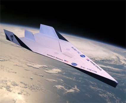 x-99 spaceplane, a long distance paper plane