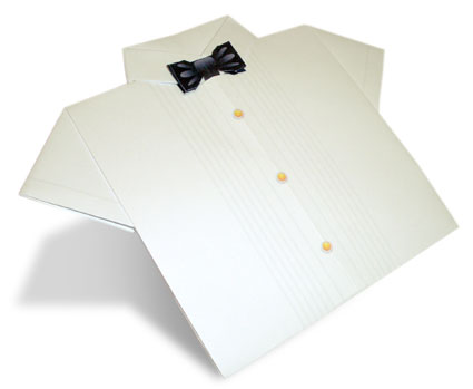 Dress Shirt, Black Tie Origami Paper Shirt