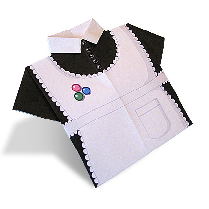 French Maid's Blouse Origami Paper Shirt