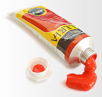 tube of acrylic paint