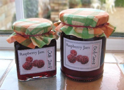 dawny's Jam making labels